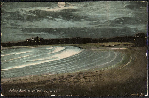 "Bathing beach of the ""400"", Newport, R.I."