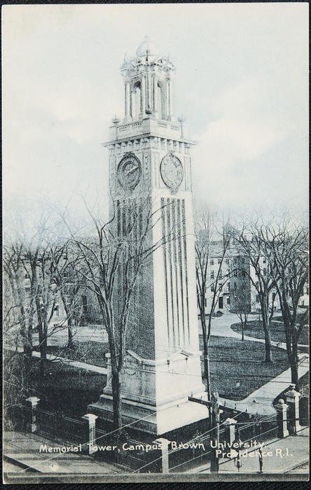 Memorial Tower, Campus Brown University, Providence, R.I.
