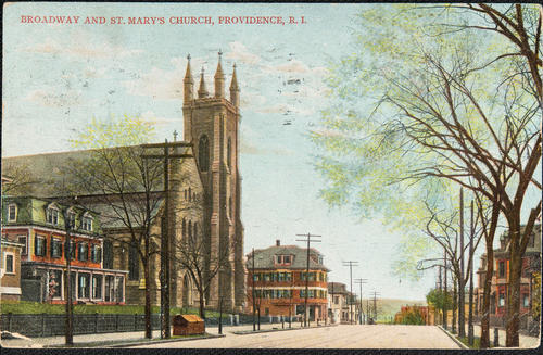 Broadway and St. Mary's Church Providence, R.I.