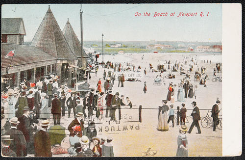 On the beach at Newport, R.I.