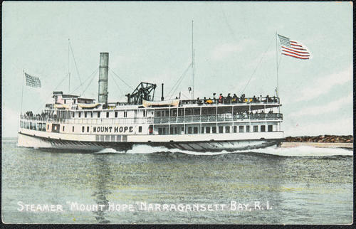 "Steamer ""Mount Hope"" Narragansett Bay, R.I."