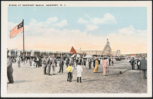 Scene at Newport Beach, Newport, R.I.