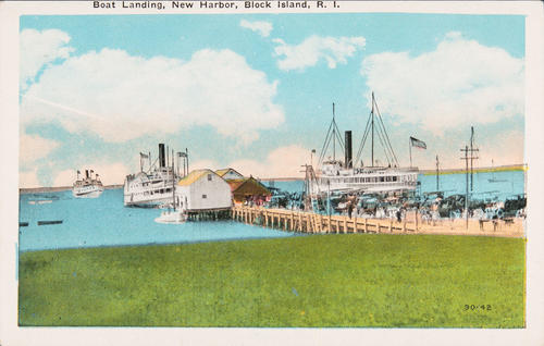 Boat Landing, New Harbor, Block Island, R.I.