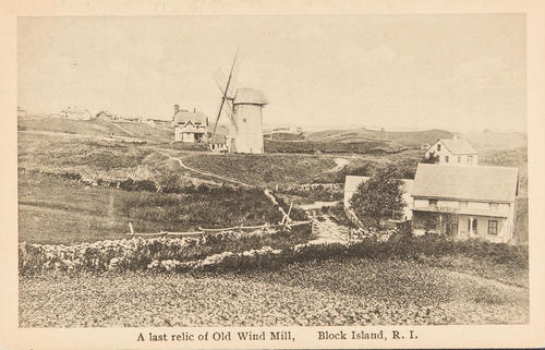 A last relic of Old Wind Mill, Block Island, R.I.