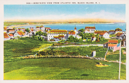 Bird's Eye View from Atlantic Inn, Block Island, R.I.