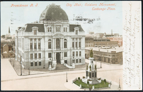 Providence, R.I. City Hall; Soldiers Monument; Exchange Place