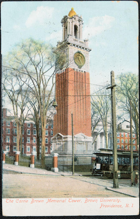 The Carrie Brown Memorial Tower, Brown University, Providence, R.I.