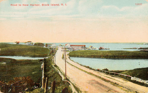 Road to New Harbor, Block Island, R.I.