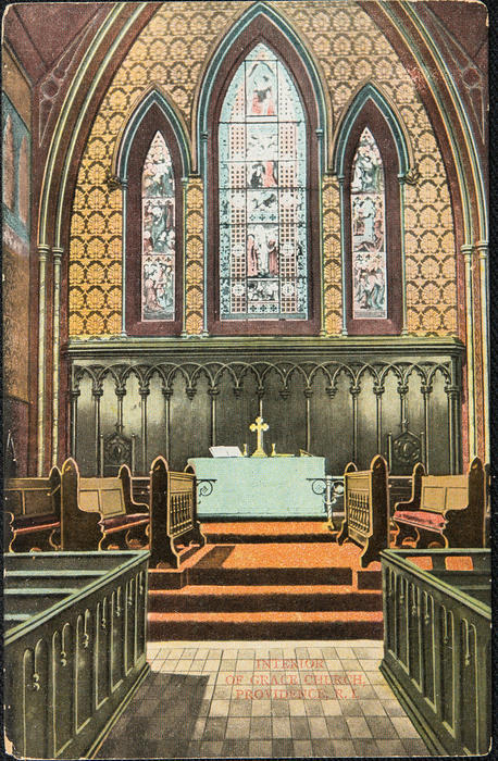 Interior of Grace Church, Providence R.I.