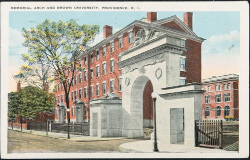 Memorial Arch and Brown University, Providence, R.I.