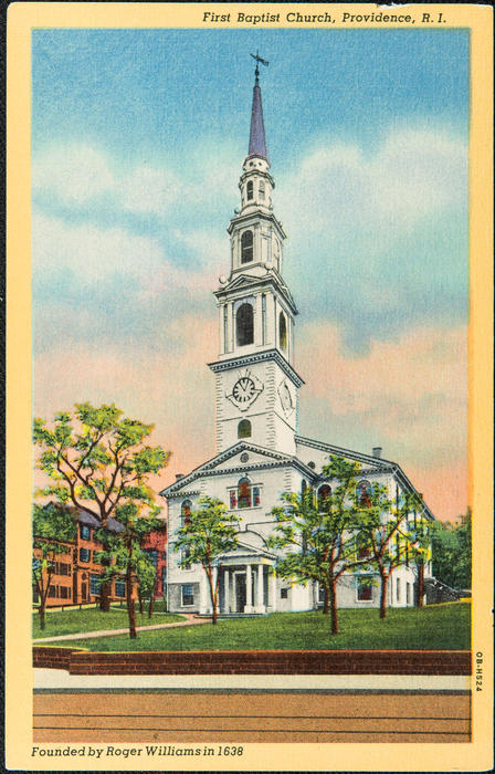 First Baptist Church, Providence, R.I. Founded by Roger Williams in 1638.