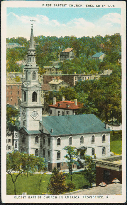 First Baptist Church, erected in 1775. oldest Baptist Church in America, Providence, R.I.