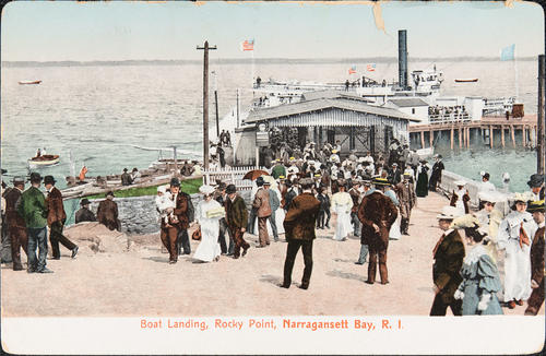 Boat Landing, Rocky Point, Narragansett Bay, R.I.