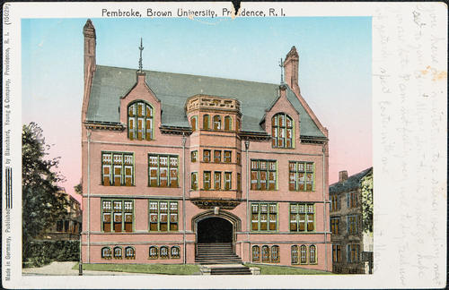 Pembroke, Brown University, Providence, R.I.