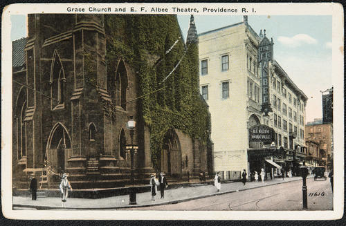 Grace Church and E.F. Albee Theatre, Providence, R.I.