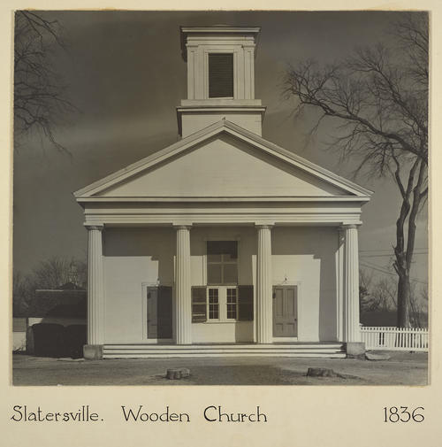 Slatersville. Wooden Church 1836