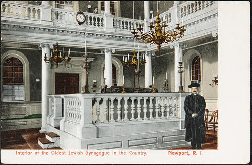 Interior of the oldest Jewish Synagogue in the country, Newport R.I.
