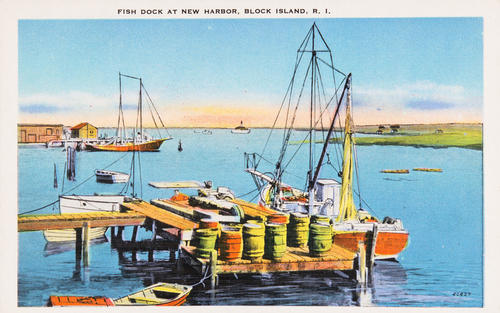 Fish Dock at New Harbor, Block Island, R.I.