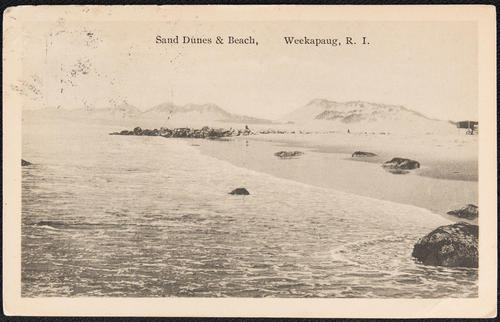 Sand dunes and Beach, Weekapaug, R.I.