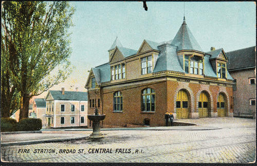 Fire Station, Broad St. Central Fall, R.I.