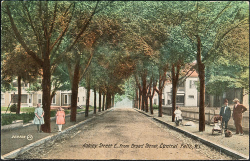 Ashley Street E. from Broad Street, Central Falls, R.I.