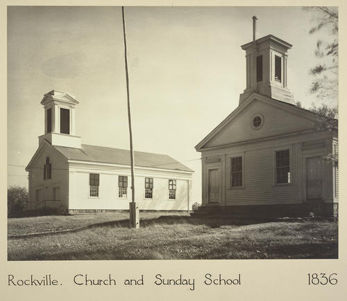 Rockville. Church and Sunday School 1836
