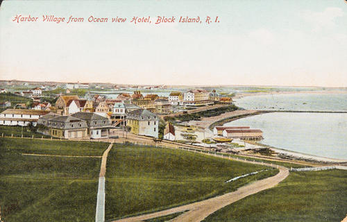 Harbor village from Ocean View Hotel, Block Island, R.I.