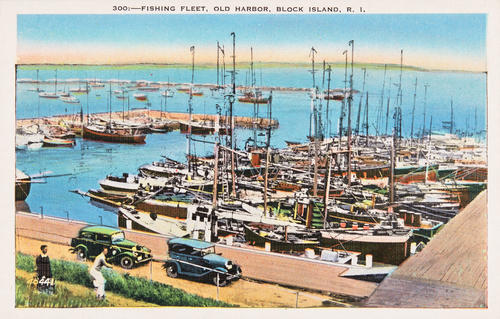 300 - Fishing fleet, Old Harbor, Block Island, R.I.