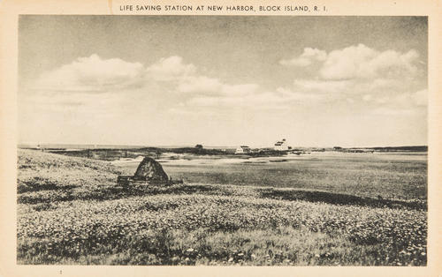 Life Saving Station at New Harbor, Block Island, R.I.