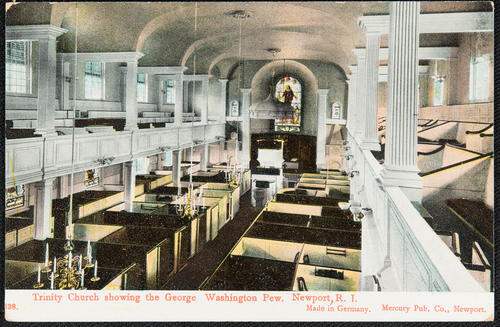 Trinity Church showing the George Washington pew. Newport R.I.