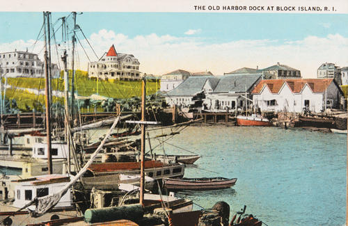 The Old Harbor Dock at Block Island, R.I.