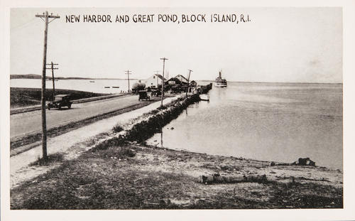 New Harbor and Great Pond, Block Island, R.I>.