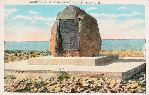 Monument at Cow Cove, Block Island, R.I.