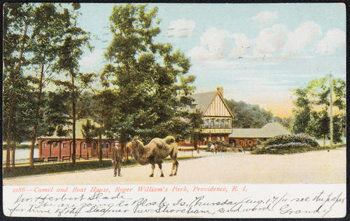 Camel and Boat House, Roger William's Park, Providence, R.I.