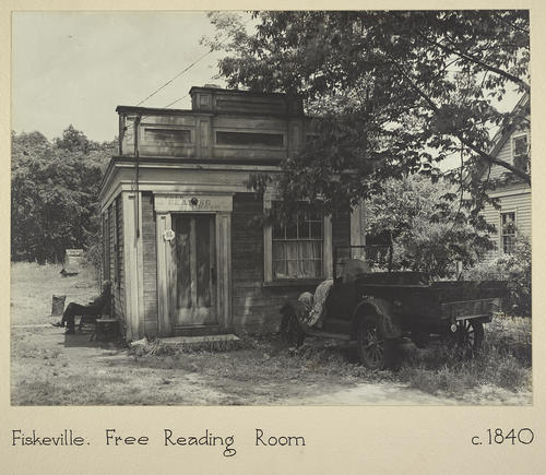 Fiskeville. Free Reading Room c. 1840