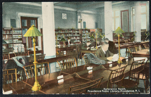 Reference Room, Providence Public Library, Providence, R.I.