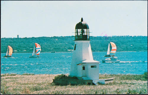 """Sandy Point Lighthouse"" Prudence Island, R.I."