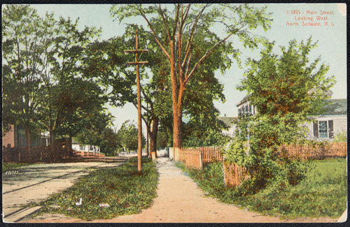 Main Street looking West, North Scituate, R.I.