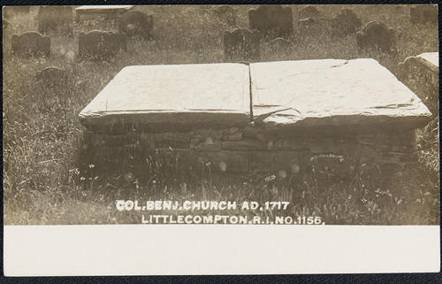 Col. Ben. J. Church AD 1717.  Little Compton, R.I.
