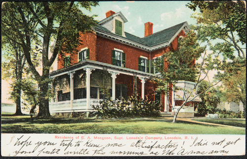 Residence of E.A. Mongeon, Supt. Londsdale Company, Lonsdale, R.I.