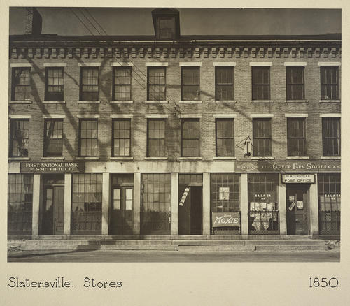Slatersville. Stores 1850