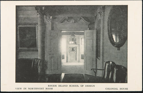 Rhode Island School of Design. View in Northwest room Colonial House.
