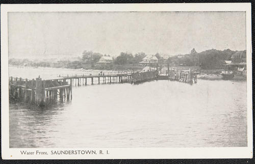 Water front, Saunderstown, R.I.