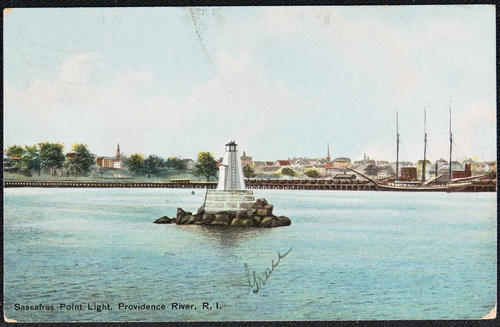 Sassafras Point Light, Providence River, R.I.