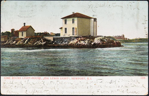"Lime Rocks Light-House, ""Ida Lewis Light"", Newport, R.I."