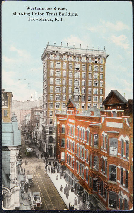 Westminster Street, showing Union Trust Building, Providence, R.I.