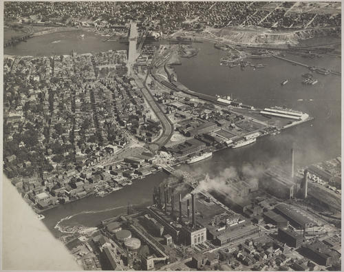 Fox Point, Providence. Washington Bridge, 1930 under Construction