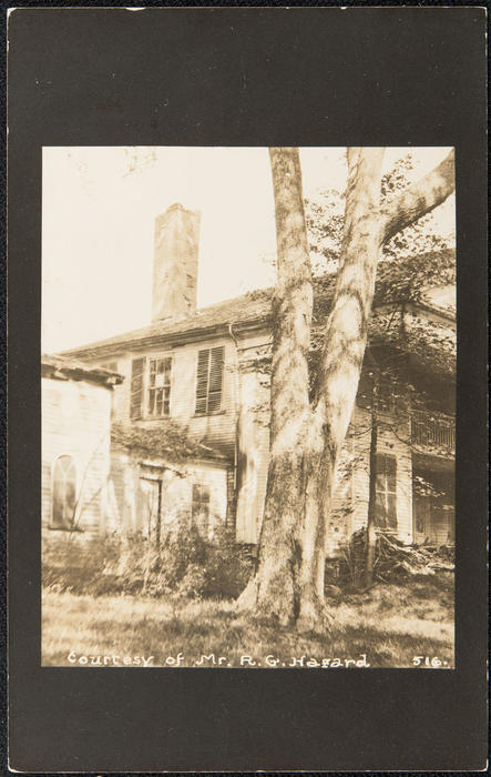 "Portsmouth, R.I. ""Vaucluse"" mansion, view of chimney"