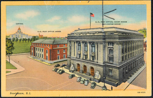 Providence, R.I. Capitol, U.S. Post Office Annex, U.S. Post Office, Court House and Custom House