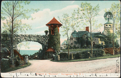"Entrance to ""Dunmere"", Narragansett Pier, R.I."